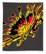 African Daisy Fleece Blanket