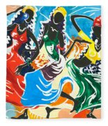 African Dancers No. 2 Fleece Blanket