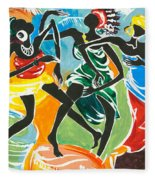 African Dancers No. 3 Fleece Blanket