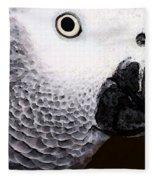 African Gray Parrot Art - Seeing Is Believing Fleece Blanket