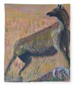 African Hyena Fleece Blanket