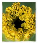 African Marigold Named Crackerjack Gold Fleece Blanket