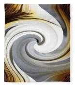 African Moon Twirls Fleece Blanket