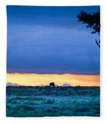 African Panoramic Sunset Landscape Fleece Blanket