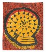 African Shell Pattern Fleece Blanket