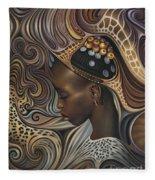 African Spirits II Fleece Blanket