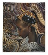 African Spirits II Fleece Blanket