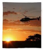 African Sunset II Fleece Blanket