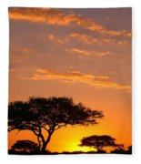 African Sunset Fleece Blanket