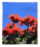 African Tulip Tree Fleece Blanket