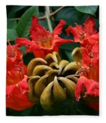 African Tulip Tree Fleece Blanket