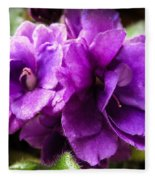 African Violet Fleece Blanket