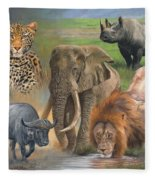 Africa's Big Five Fleece Blanket