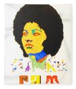 Afro Pam Grier Fleece Blanket
