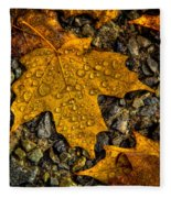 After An Autumn Rain Fleece Blanket