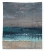 After The Storm- Abstract Beach Landscape Fleece Blanket