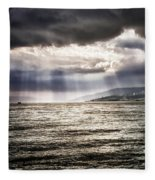After The Storm Sea Of Galilee Israel Fleece Blanket