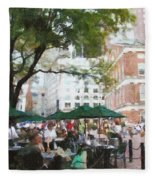 Afternoon At Faneuil Hall Fleece Blanket