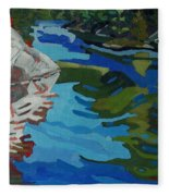 Afternoon At Frood Lake Outlet Fleece Blanket