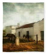 Afternoon At Lone Tree Ranch Fleece Blanket