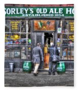 Afternoon At Mcsorley's Fleece Blanket