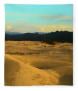 Afternoon At Oregon Dunes Fleece Blanket