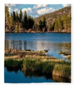 Afternoon At Sprague Lake Fleece Blanket