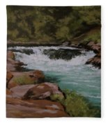Afternoon At The Narrows Fleece Blanket