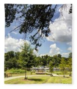 Afternoon At The Park Fleece Blanket
