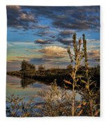 Late Afternoon In The Mead Wildlife Area Fleece Blanket