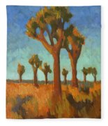 Afternoon Light At Joshua Tree Fleece Blanket