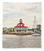 Afternoon On The Water - Hdr Fleece Blanket