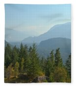 Afternoon Smoke At The Tantalus Mountains Fleece Blanket
