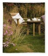 Afternoon Tea Fleece Blanket
