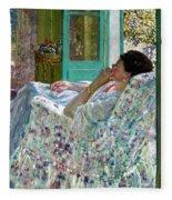 Afternoon Yellow Room Fleece Blanket