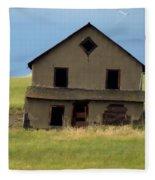 Against The Wind Abandoned Homestead Fleece Blanket