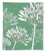 Agapanthus Breeze Fleece Blanket