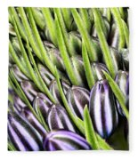 Agapanthus Buds Fleece Blanket