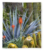 Agave And Cactus Fleece Blanket