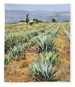 Agave Cactus Field In Mexico Fleece Blanket
