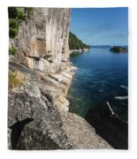 Agawa Pictographs Fleece Blanket