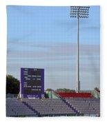 Ageas Bowl Score Board And Floodlights Southampton Fleece Blanket