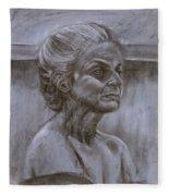 Aged Woman Fleece Blanket