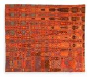 Aging Gracefully - Abstract Art Fleece Blanket