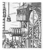 Agricola Water Pump, 1556 Fleece Blanket