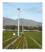 Agricultural Windmills Fleece Blanket