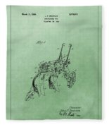 Agriculture Plow Patent Fleece Blanket