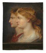 Agrippina And Germanicus Fleece Blanket