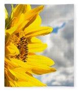 Ah Sunflower Fleece Blanket