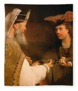 Ahimelech Giving The Sword Of Goliath To David Fleece Blanket